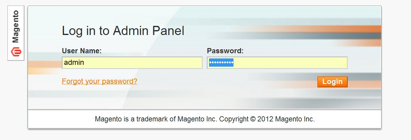 Alterar URL do admin no Magento